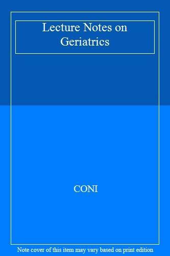 Lecture Notes on Geriatrics,CONI- 9780632020676