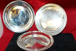 3-Gorham-Whiting-Sterling-Silver-Saucers-Bread-amp-Butter-Plates-6-034