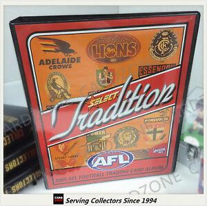 AFL TRADING CARD OFFICIAL ALBUM--2005 SELECT AFL TRADITION CARD ALBUM-RARE