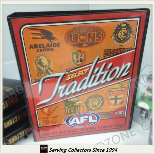 AFL TRADING CARD OFFICIAL ALBUM2005 SELECT AFL TRADITION CARD ALBUMRARE