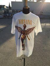 Original 1993 NIRVANA in UTERO Giant tag T-Shirt true vintage 90s grunge rock XL