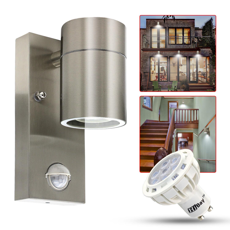 7W LED Aussenleuchte mit Bewegungsmelder  Wandleuchte Edelstahl GU10 Außenlampe     | Ich kann es nicht ablegen  | Hochwertige Produkte  | Kunde zuerst
