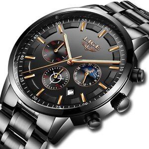 Fashion-Sport-LIGE-Men-039-s-Analog-Quartz-Wrist-Watches-Military-Date-Watch-Gift