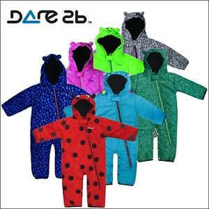 f74dab84be54 Dare2b Break The Ice Insulated Padded Kids Snow Suit Girls Boys Baby ...