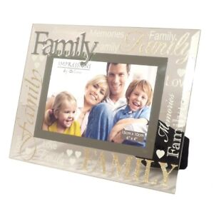 Image Is Loading Modern Silver D Word Family Gl Glitter Photo
