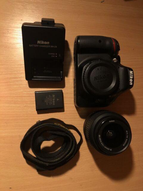 Nikon D5200 24.1MP Digitalkamera - Schwarz Kit mit AF-S DX 18-55mm-Objektiv