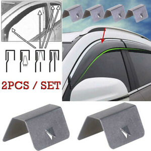Details about 2X Wind / Rain Deflector Car Channel Metal Retaining Clips  For Heko G3 C UQ