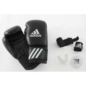 Details about ADIDAS BEGINNERS' BOXING KIT GLOVES WRAPS, MOUTHGUARD MUAY THAI MMA TRAINING