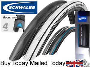 2018 Schwalbe Durano 700 x 23c 25c FOLDING Raceguard Road Bike Tyres 23-622 225g
