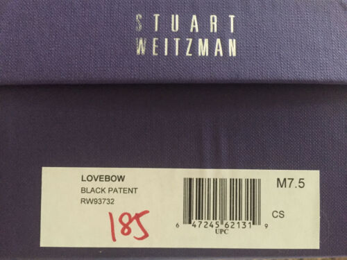 NIB Stuart Weitzman Lovebow peep toe pump 5 5.5 6 6.5 7 7.5 8 black patent Bow
