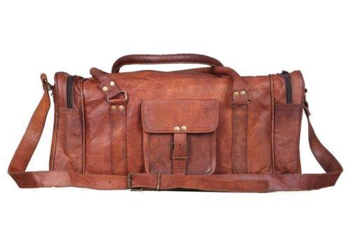cuir en couleur USA Grand marron voyage à de Sac cuir sac voyage avec glissière de fermeture marron de en XiuPkZO