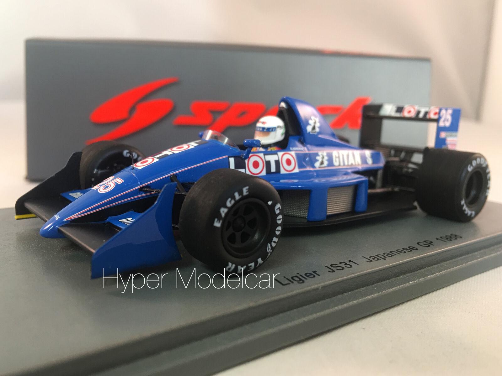 SPARK 1 43 LIGIER LIGIER LIGIER F1 JS31  25 JAPAN GP 1988 R. ARNOUX ART.S3968 4d1087