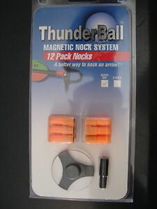 Thunderball Magnetic Nock System Super Uni 12 orange archery arrow nocks