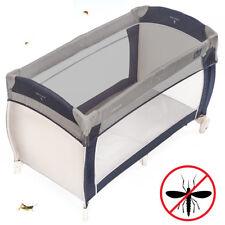 Universal Reisebett Insektenschutz / Mückennetz für Babybetten, Stubenwagen Grau