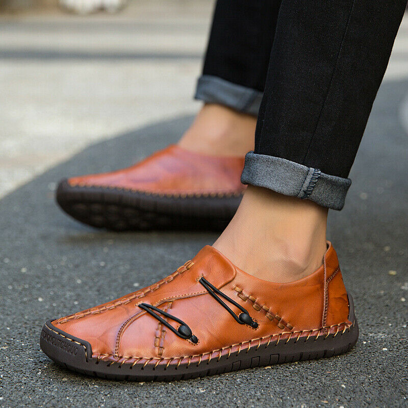Comfort Gommino Mens Casual shoes Loafers Rope Retro Drive Moccasins Leisure Hot