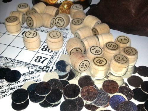 Bingo Russian Old Board Game Loto Lotto  Wooden Wood Barrels Русское Лото