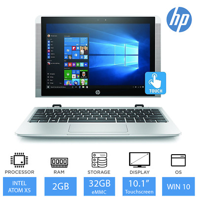 "HP x2 10-p000na10.1"" Touch Convertible Laptop/Tablet Intel Atom x5, 32GB SSD"