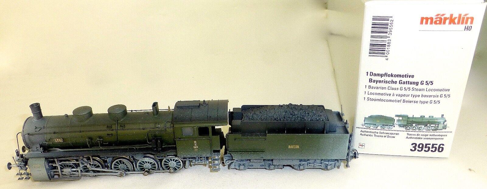 Bay G 5 5 Steam Locomotive Winter Dig EPII Märklin 39556 H0 1 87 NIP HJ3 µ