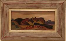RARE  California Modernist JOHN HALEY Abstract Oil Painting Berkeley School MCM