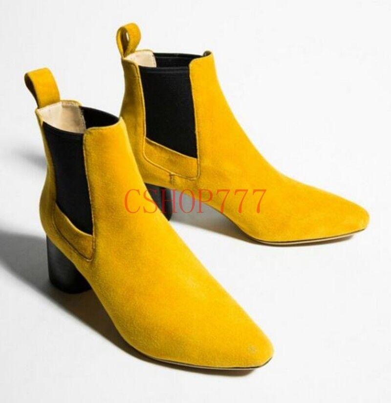 Para mujer Puntera Puntera Puntera Puntiaguda Bloque Talón resbalón en Casual botas Zapatos De Negocios Formal Moda  El nuevo outlet de marcas online.