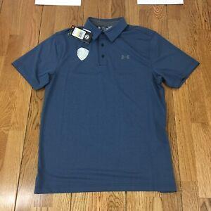 NWT-Men-039-s-UNDER-ARMOUR-034-Loose-034-034-HearGear-034-Polo-Shirt-Medium-Golf-Logo
