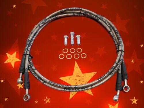Speedline/'z Front Stainless Steel Racing Brakelines For RZR 800 08-14 10 Inch