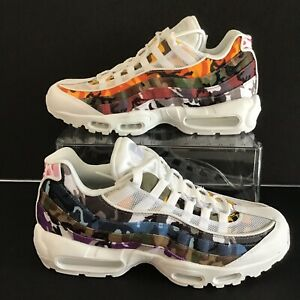 Men's Nike Air Max 95 ERDL Party Goes Full Camo White Multi Color AR4473 100 Boys Running Shoes AR4473 100