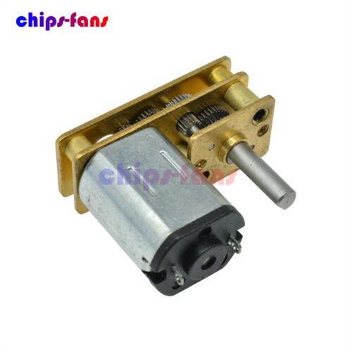Micro Speed Reduction Gear Motor 3//6//12V//100RPM GA1024 Wheel Shaft Metal Gearbox