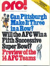 San Diego Chargers New York Giants 9/4/76 Game Program Franco Harris Bradshaw