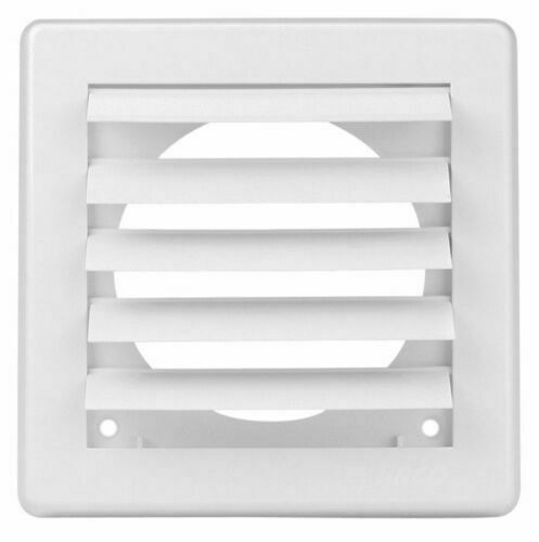 Condotto Air Vent Grille COVER 3 alette di gravità 150x150mm Bianco ø100mm mv100vj 4/""