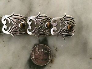 vtg-039-1950-antique-signed-taxco-sterling-tiger-eyes-art-nouveau-bracelet