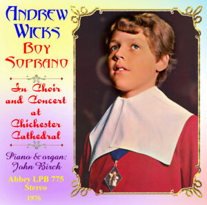 Details about Andrew Wicks Boy Soprano - Treble - Choir & Concert  Chichester Cathedral