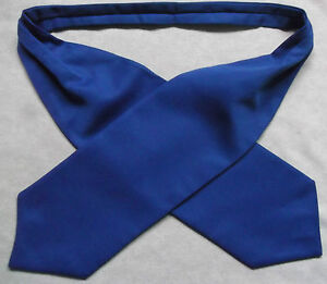 Ascot Foulard Homme Mariage Chouchou Ruché Taille Unique Vibrant Bleu Royal-afficher Le Titre D'origine