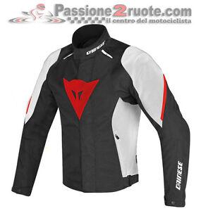 Dettagli su Giacca moto Dainese Laguna Seca D1 D dry nero bianco rosso 858 4 stagioni