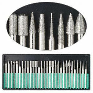 30pc-DREMEL-DIAMOND-BURR-Bit-Set-Rotary-Tools-400-Grit-1-8-034-Shank-Storage-Case