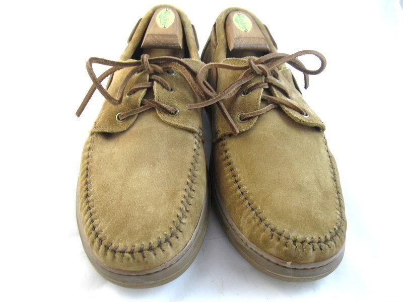 NEW  Allen Edmonds Boat shoes 9 D Tan Suede  (592)