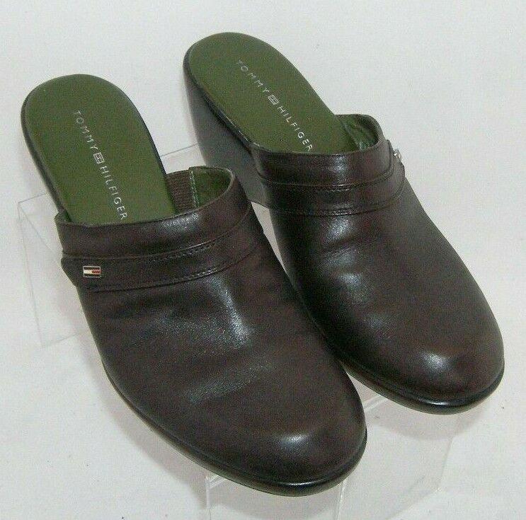 Tommy Hilfiger brown leather round toe slip on mu… - image 7