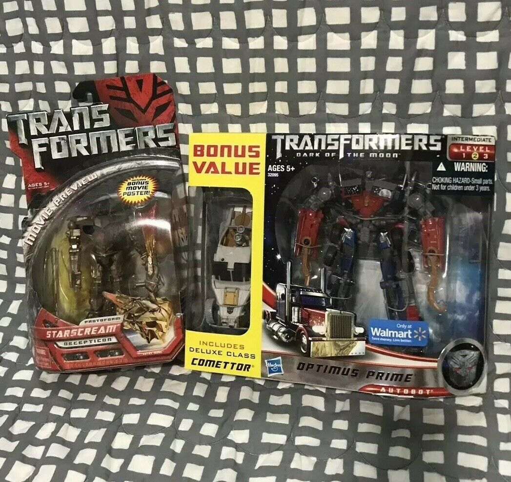 Transformers Movie Dark Of The  Moon Prime Starscream Optimus Prime Walmart leader Lot G1   magasin en ligne