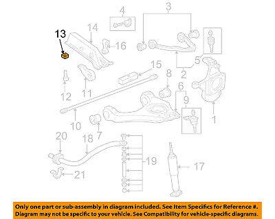 Genuine GM 11561233 Torsion Bar Adjust Nut