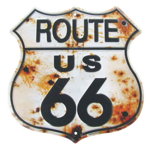 Rusty Highway Route 66 glacoide nous fait rustique vintage garage bar pub Wall Decor