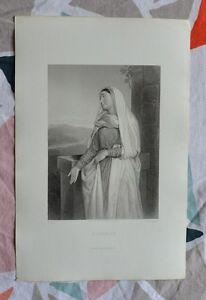 Belle Gravure Xixème - Elisabeth - Bible - Religion - Gustave Staal N91vsirs-08001700-552588133