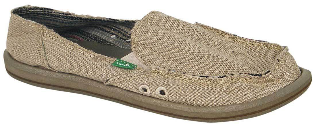 Sanuk Damenschuhe Hemp Sidewalk Surfer - Natural - NEU