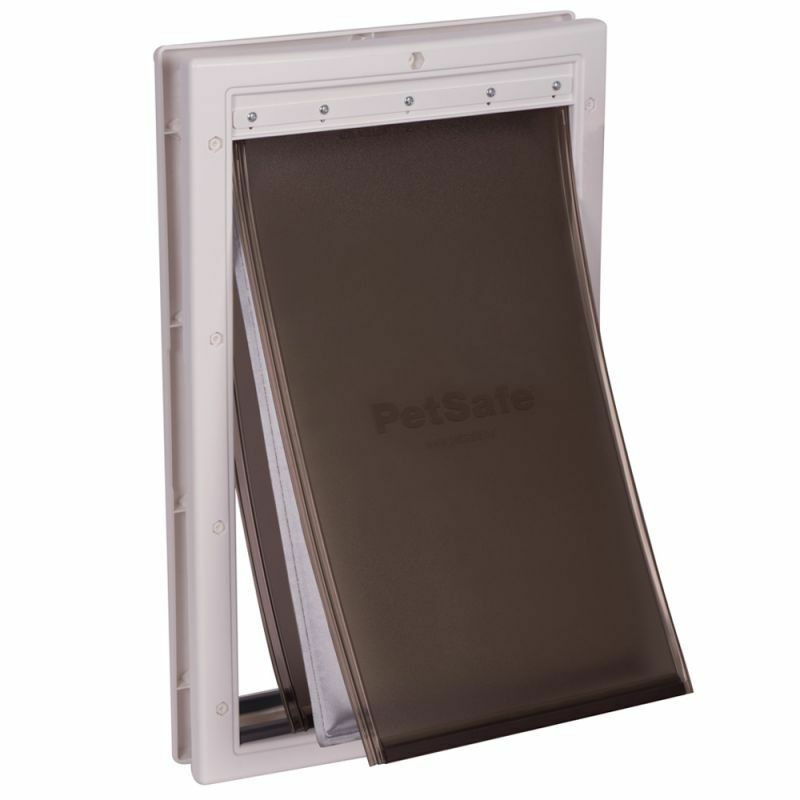 Dog Door Outside Flap Insulated Magnetic Predects House Heat and Cold 2 Sizes