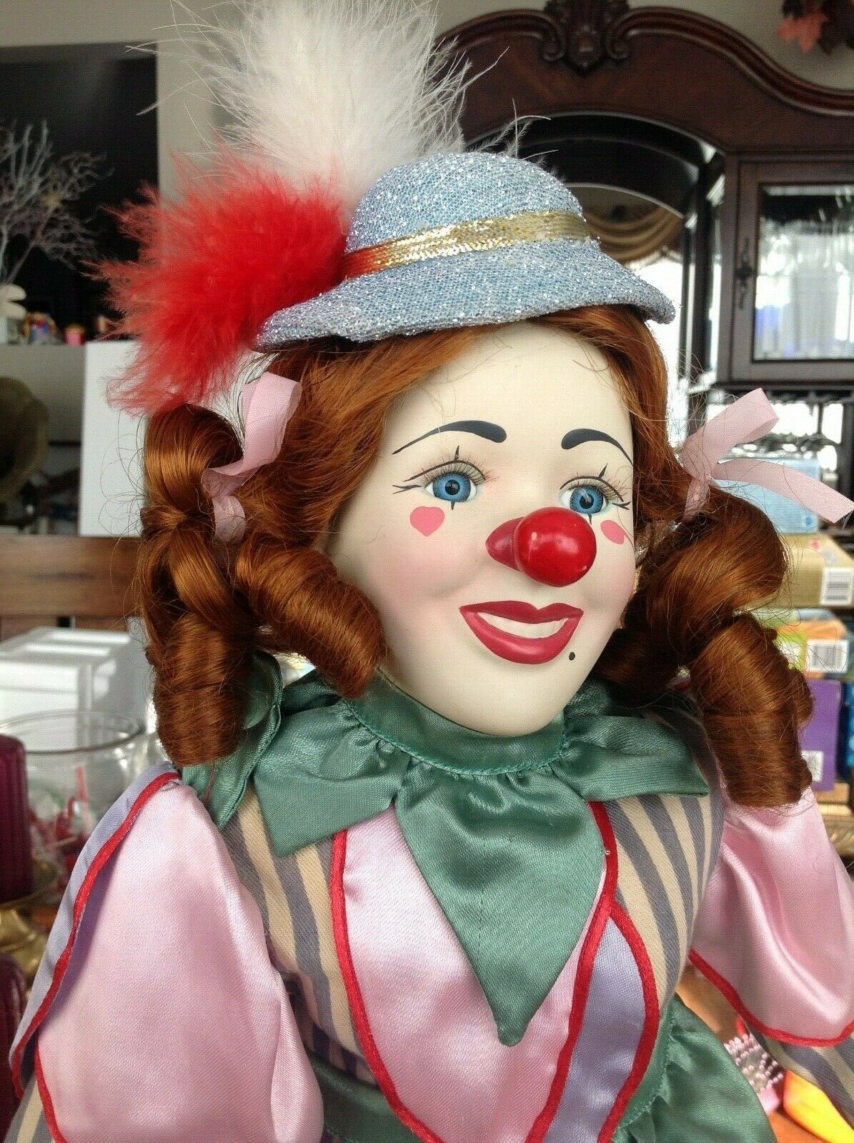 23  clown girl doll - bisque PUIPY