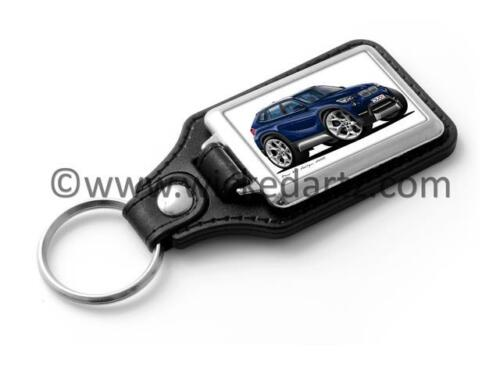 WickedKarz Cartoon Car BMW X1 Crossover Mini SUV in Blue Stylish Key Ring