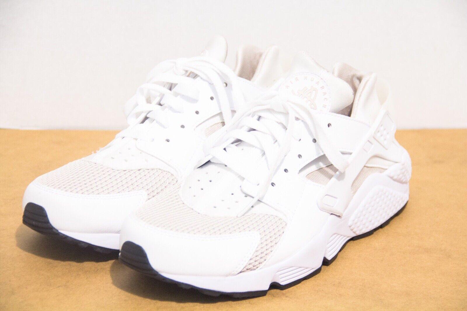 Homme Nike Air Huarache courir Blanc Taille 10 Sable Du Désert Chaussures De Course 318429-113
