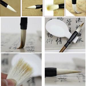 3Pcs set Chinese Calligraphy Sumi Drawing Kanji Brush Jian Hao Goat ... 339cdc939cec