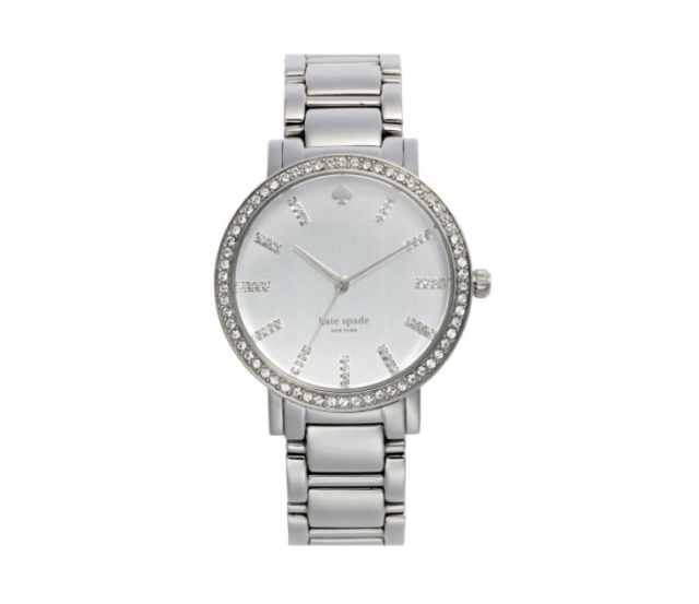 Kate Spade Gramercy Grand Mother Of Pearl Dial Stainless Steel 38mm Watch 130711