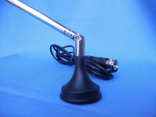 Receive FREE HD TV Broadcasts with this ATSC HDTV Telescopic Antenna Mag base