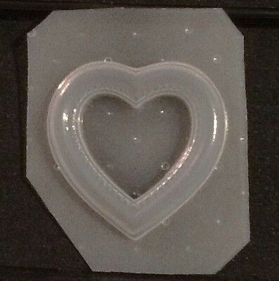 Flexible Resin Mold Heart Picture Frame Mould Craft Supplies